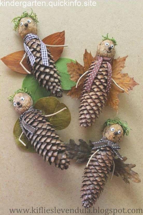Basteln im Herbst mit Kindern - von Naturmaterialien bis Knöpfe #weihnachtsbastelnnaturmaterialien