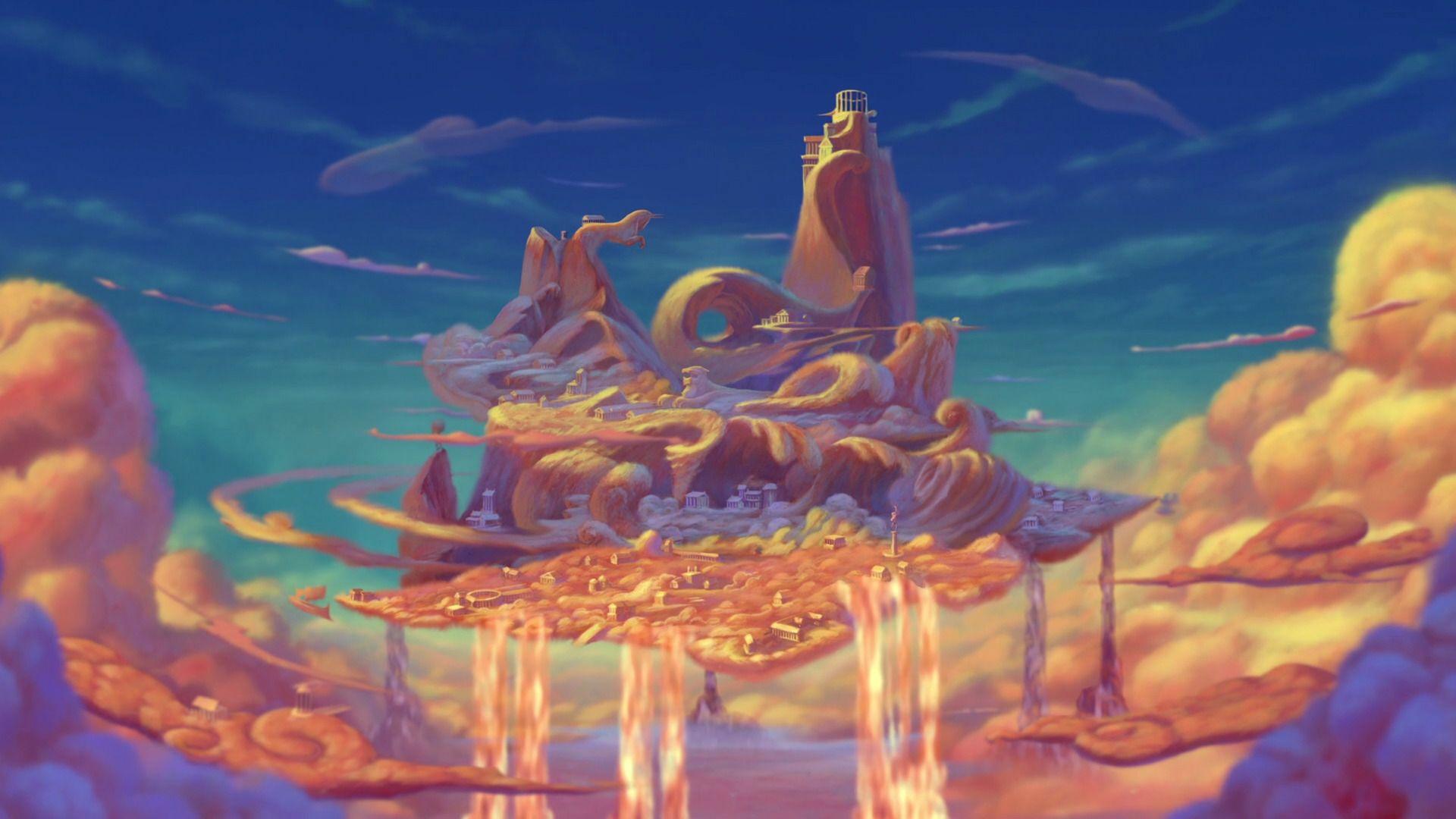Hercules (Mt. Olympus) | Disney Screen Caps and Background ...