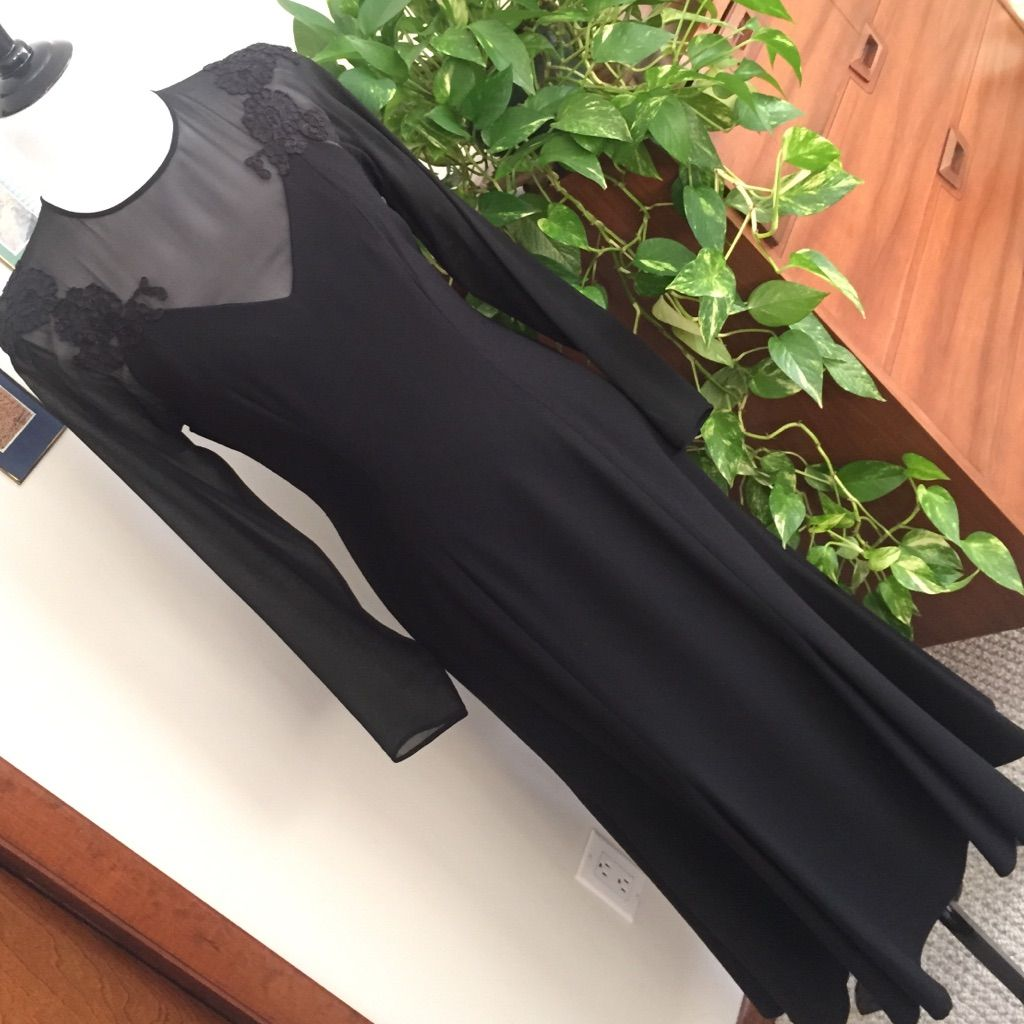 Bill blass black evening dress products pinterest bill blass