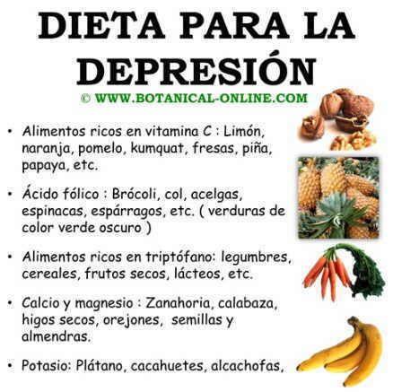 Dieta para ansiedad y depresion