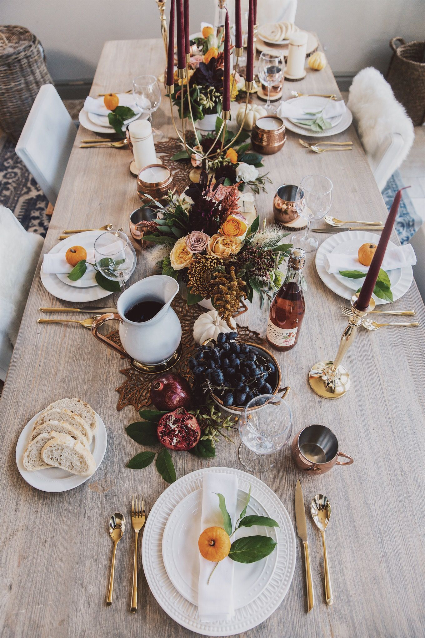 Beautiful Thanksgiving and Friendsgiving Tablescape Ideas - Fashion To Follow