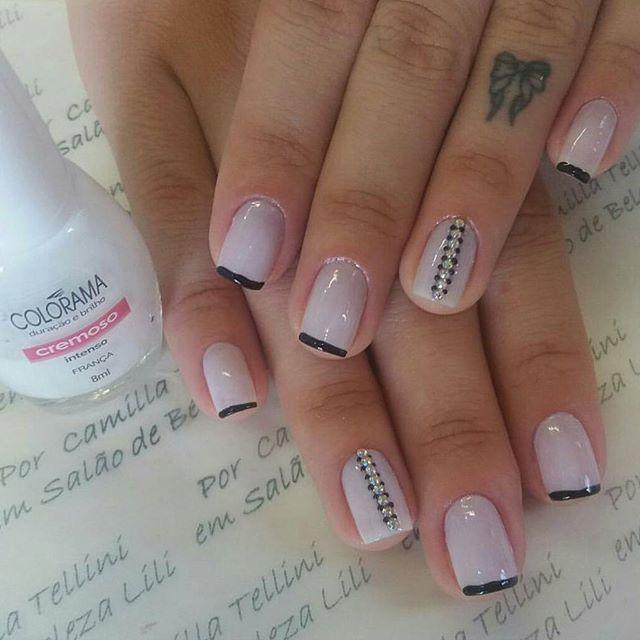 Trabalho lindo da @camillatellini 💅💅❤❤ . #boanoite #goodnight #amo #love #nails