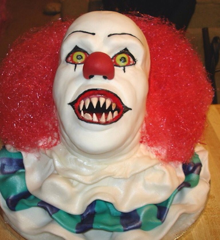 It the clown cake, Halloween cake and also can double as a birthday cake. (Great for scaring people who don't like clowns)