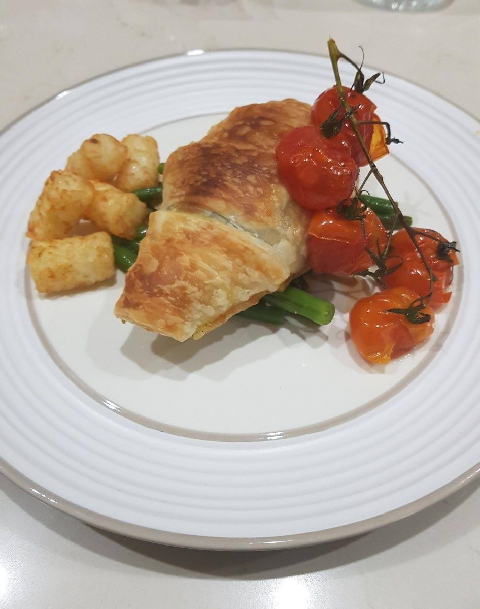 flaky pastry pesto chicken with vine tomatoes and green beans grow it catch it cook it pesto chicken flaky pastry chicken and pastry pinterest