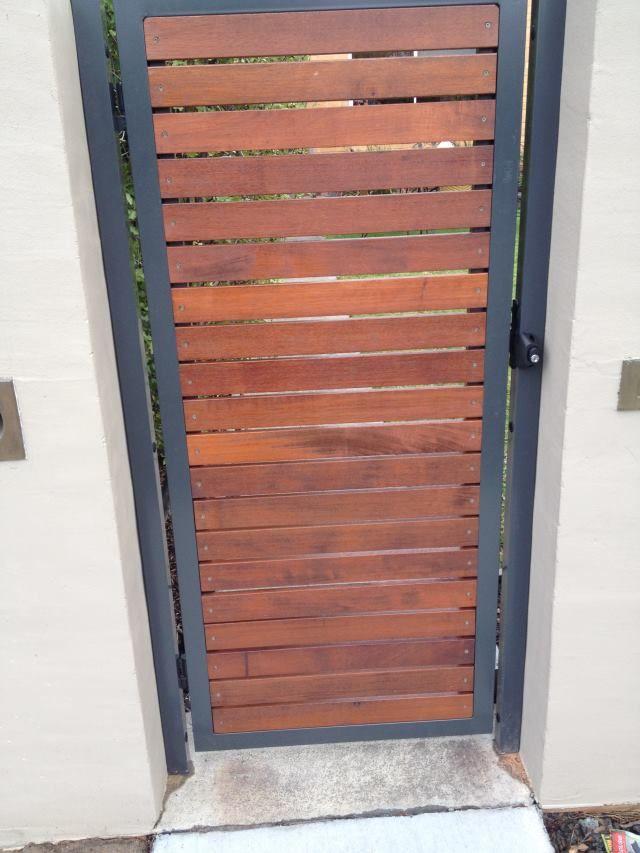 Mako Fencing Merbau Slat Single Gate Pedestrian Gate