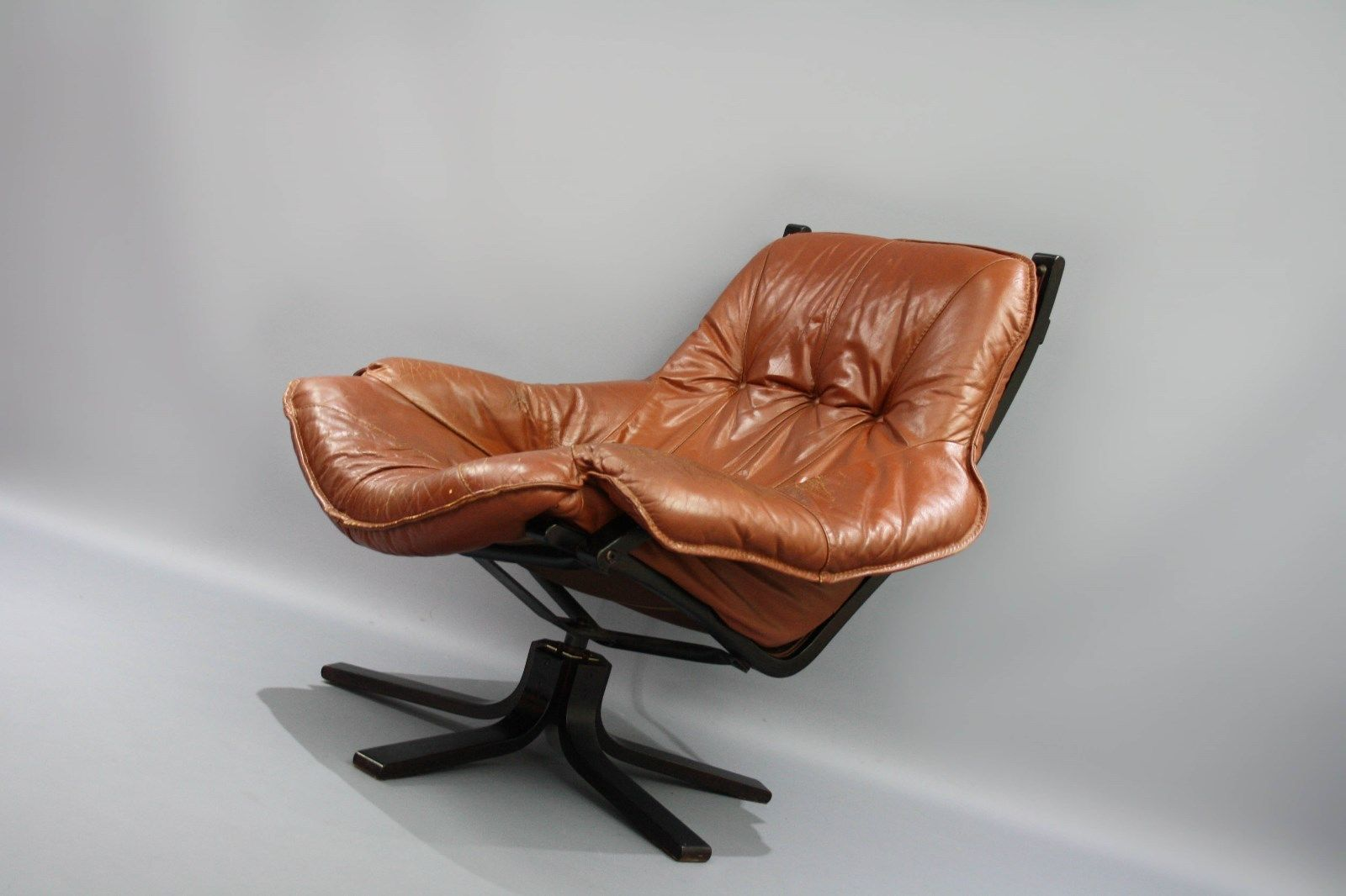 Mid Century Swivel Module Leather Armchair Retro Vintage Lounge Danish Era Retro Armchair Leather Armchair Modern Furniture