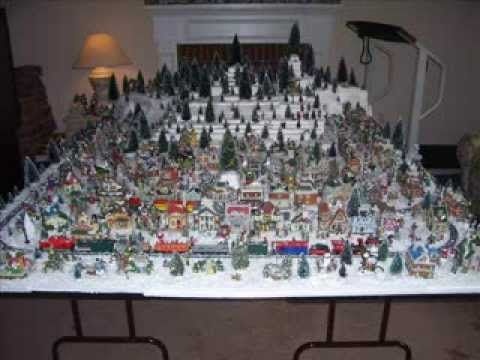 christmas villages dollar tree corner double table display