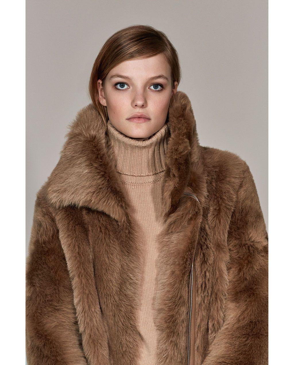 Abrigo Mujer Largo Second Natural Studio Pelo Skin Zara RA5wqw