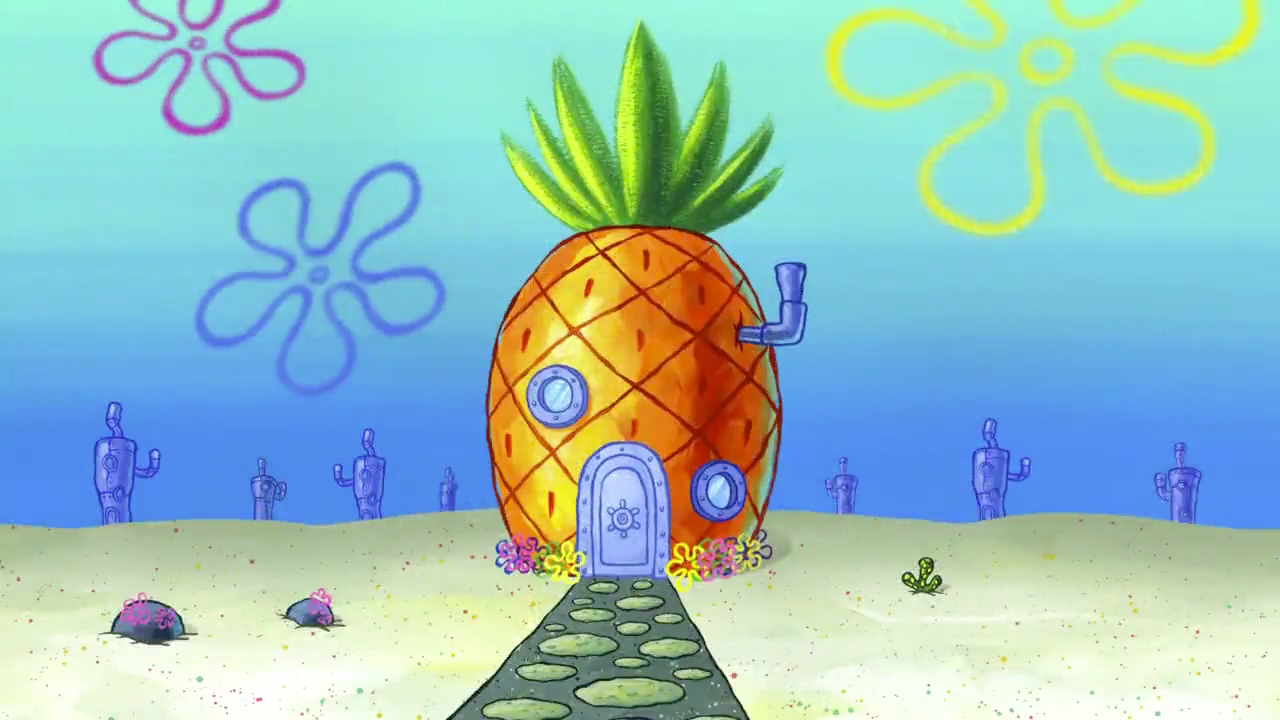 Spongebob Sky Background House Google Search Spongebob