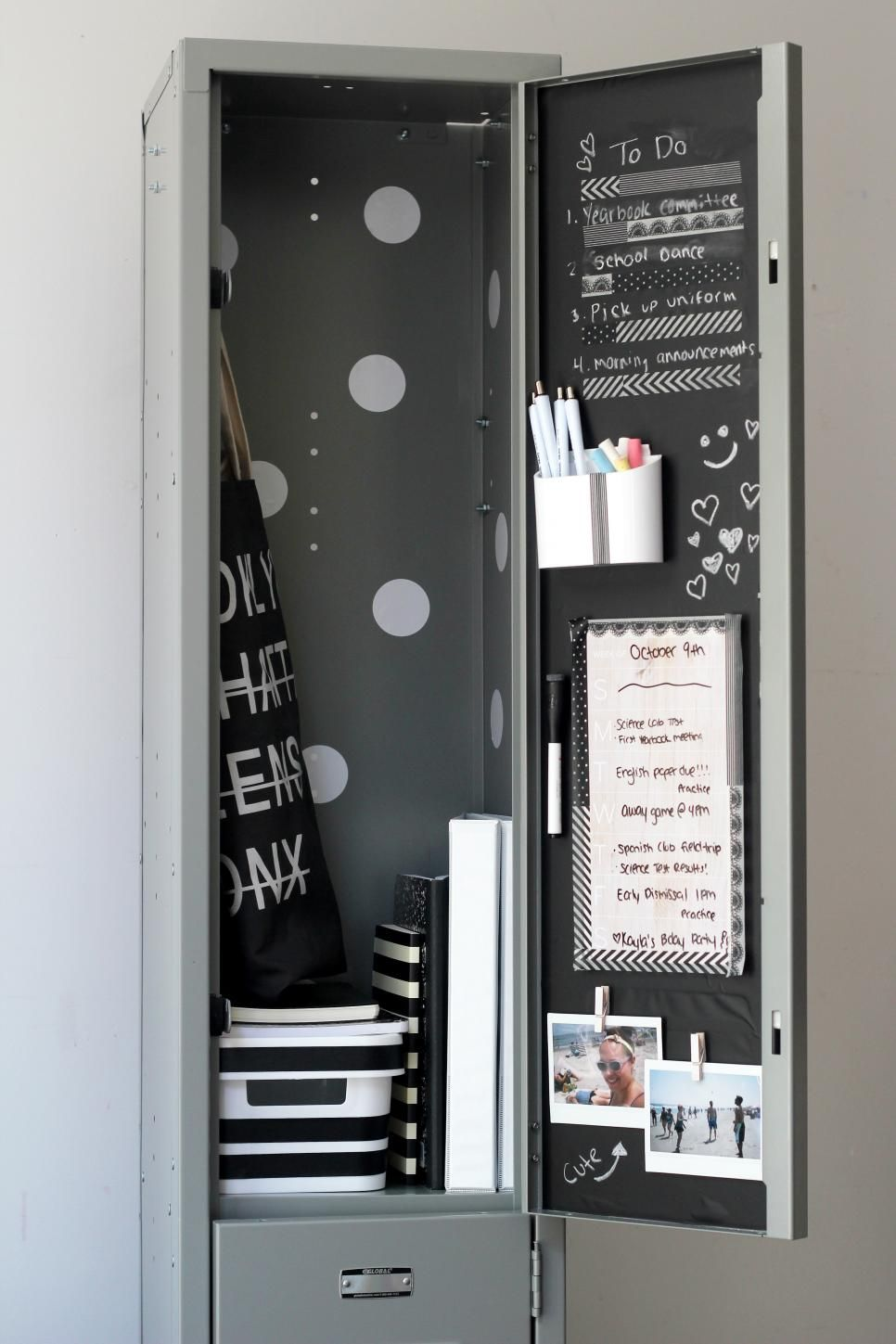 Locker Decoration Ideas 22 diy locker decorating ideas | diy locker, lockers and hgtv