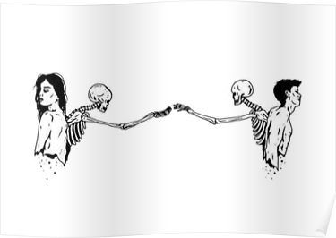 Skeleton Couple Aesthetic Romantic Poster With Images Couple