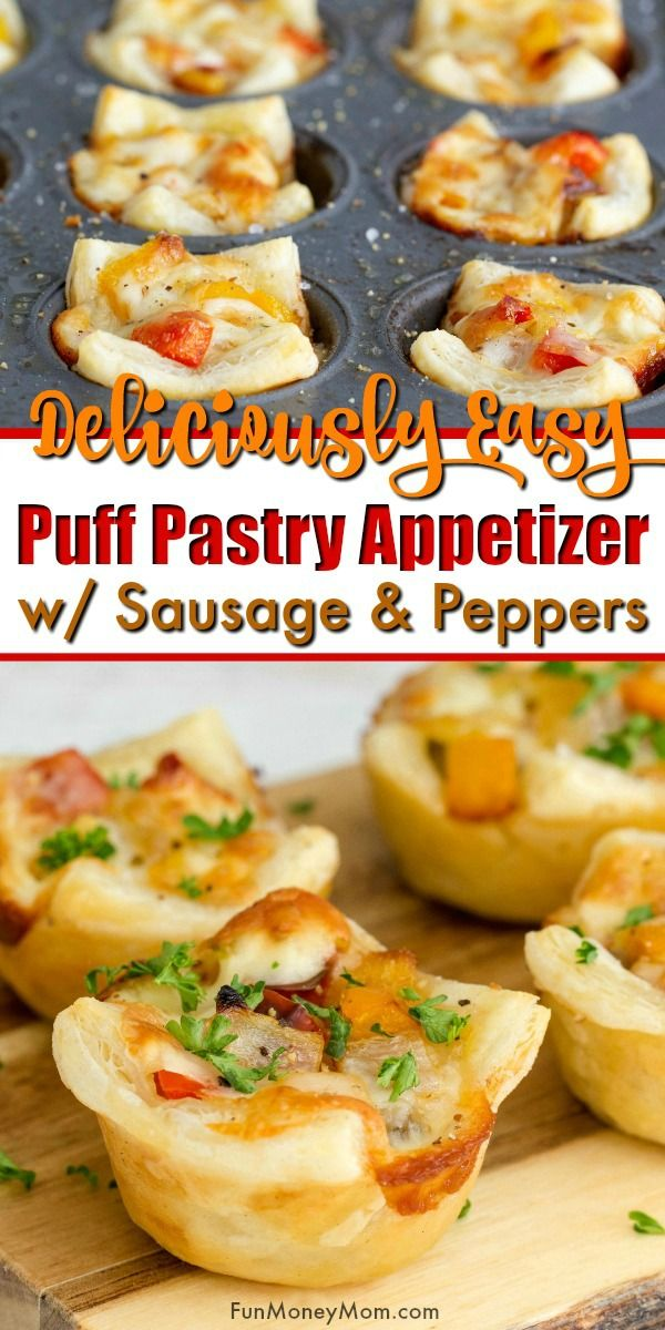 Puff Pastry Appetizer - These Sausage, Pepper & Onion Puff Pastry Bites are my new favorite food and thanks to Perdue Farms new direct-to-consumer website, I can stay stocked up on the ingredients I need for my go-to appetizer recipes like this one!  #AD #PerdueFarmsFarmtoHome, #PerdueFarms_Partner  #FamilyFarming #ThankAFarmer #FamilyFarmers
