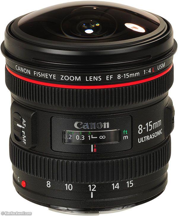 Canon 8 15mm F 4 L 180º Circular And Full Frame Fisheye Canon Lens Canon Lens