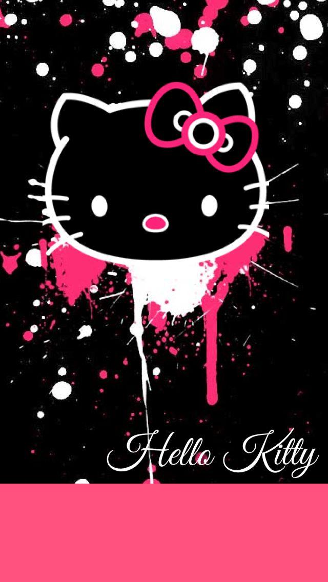 Dripping Hello Kitty Wallpaper By Foreverresa D7wmxvv Jpg 640 1136 Hello Kitty Wallpaper Hello Kitty Backgrounds Kitty Wallpaper
