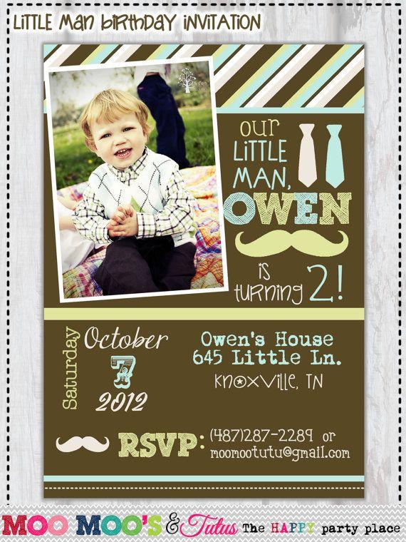 Little+Man+Birthday+Invitations Printable LITTLE MAN Birthday