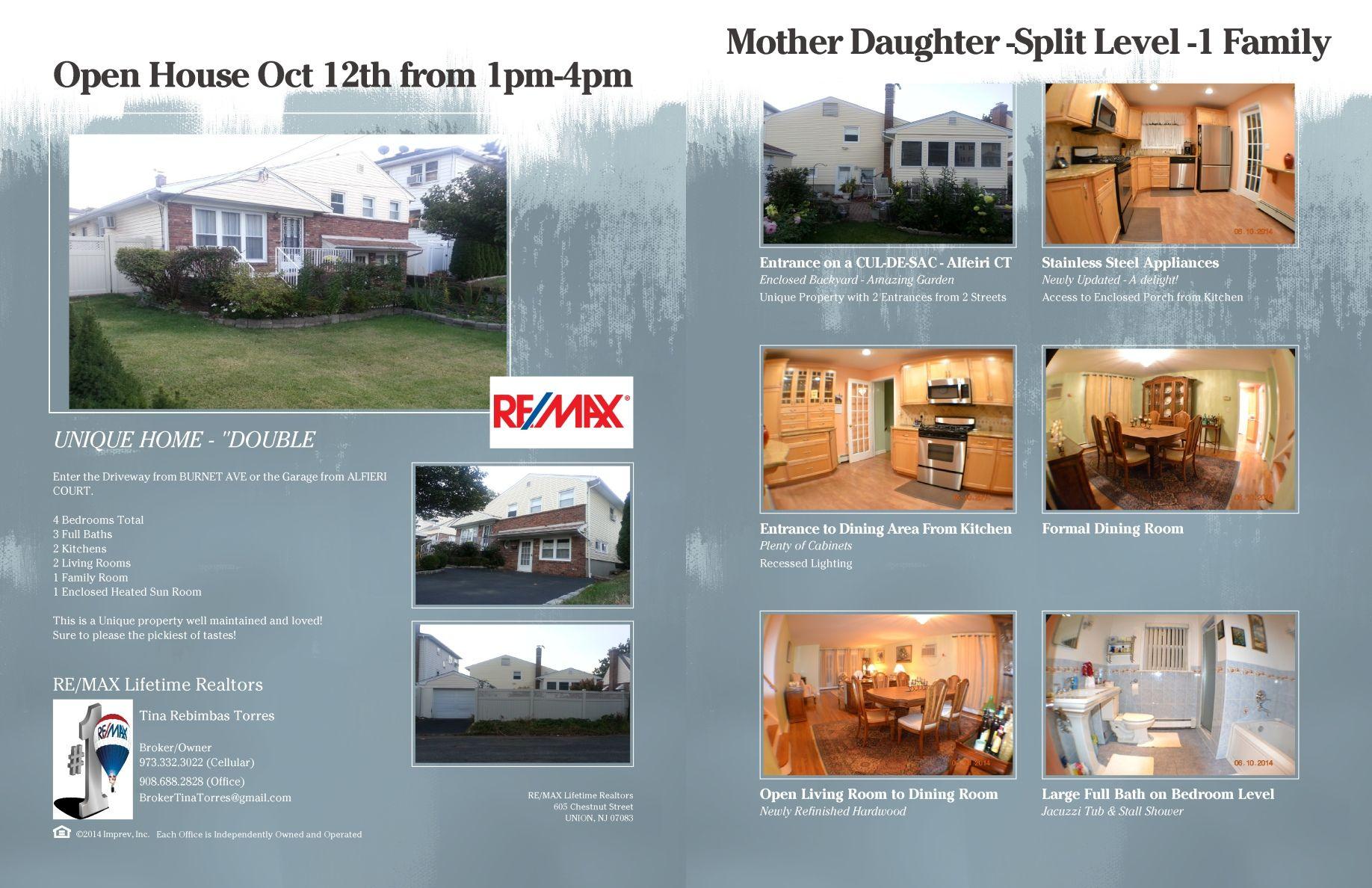 1083 Burnet Ave Union NJ 07083 - $349,900 - UNIQUE MOTHER DAUGHTER