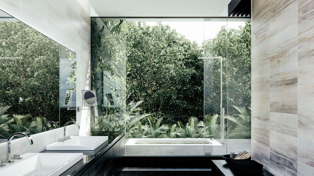 Salle De Bain De Luxe En Pierre ~ 36 id es salles de bains avec baignoire de luxe pinterest