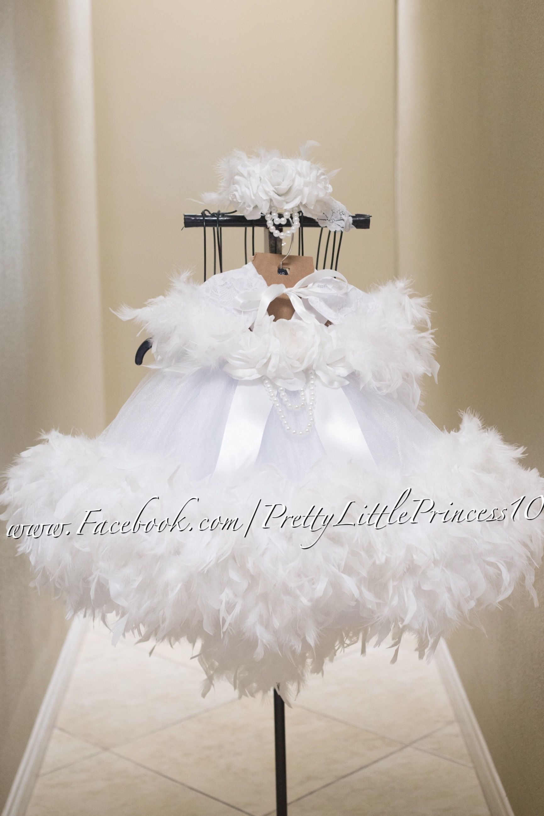 Feathers Baby Girl Baptism Gown, Baby Girl Christening Gown ...