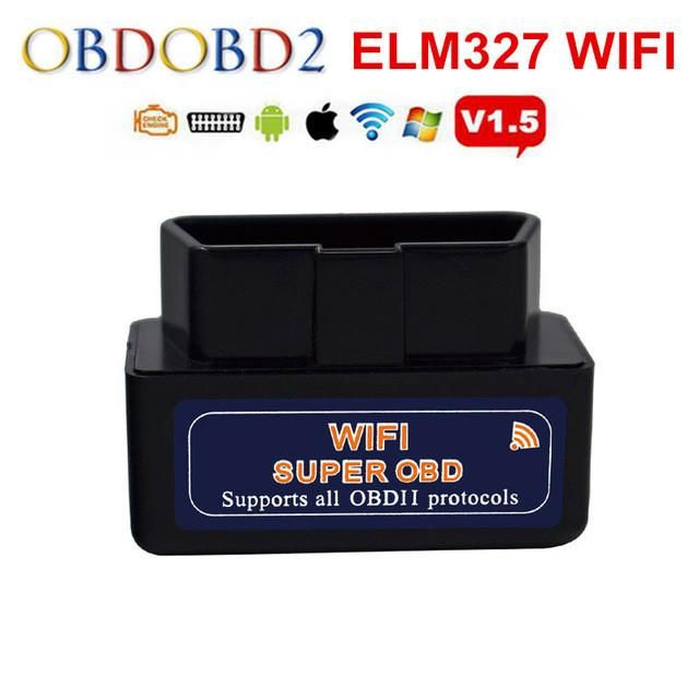 Newest ELM327 WIFI ELM 327 OBD2 Auto Scanner For Android & IOS System Mini ELM327 Wifi Support All OBDII Protocols Free Shipping
