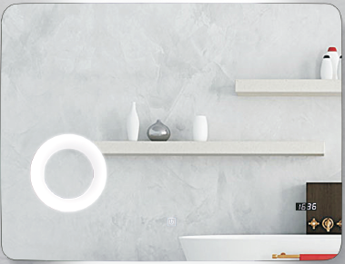 Sensor LED mirror combined with magnify making-up mirror ! Simple and Nature for Bathroom ! Even turn off automatically. Middle East