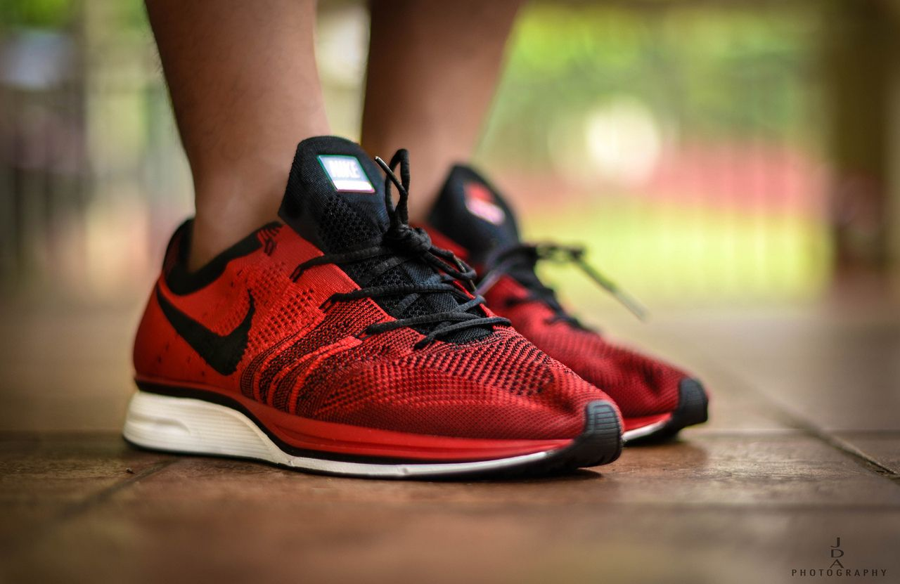 cc6984a9e98c Nike Flyknit Trainer+ - Red Black