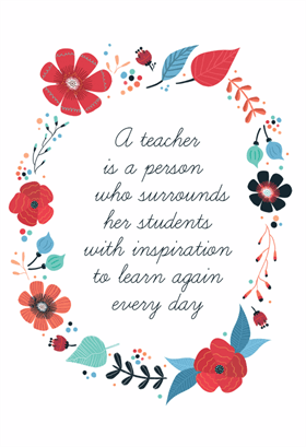 Inspired Teaching Printable Card Customize Add Text And Photos