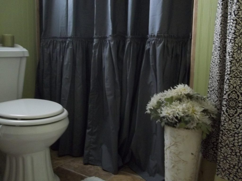 Superior Charcoal Gray Shower Curtain