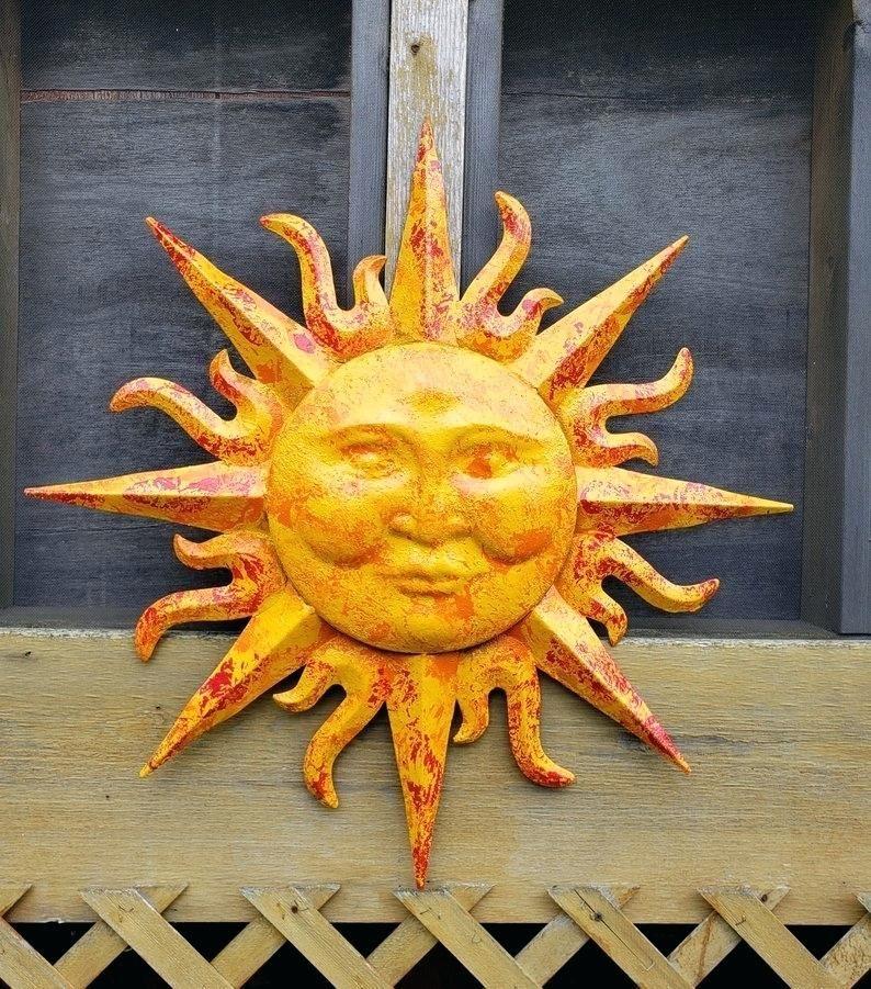 Large Metal Sun Wall Art Dekkoh Co Metal Sun Wall Art Sun Wall Decor Outdoor Wall Art