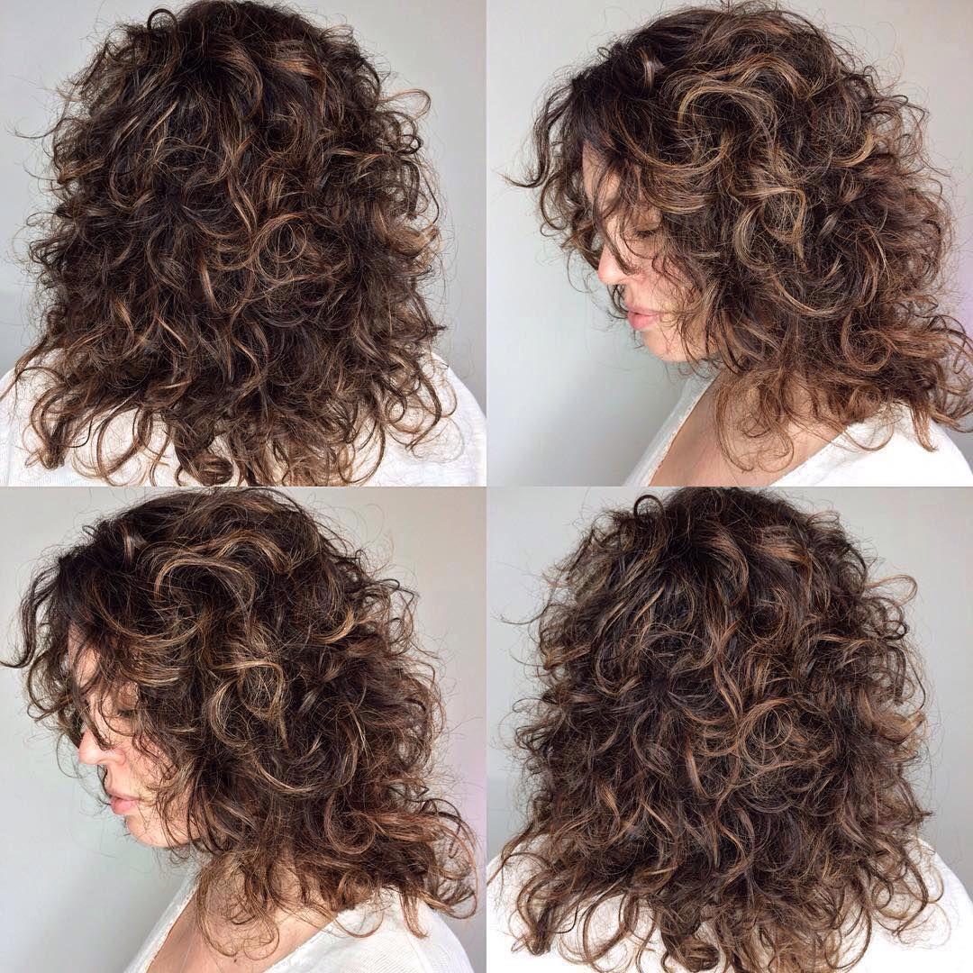 Curly Hair Cut And Balayage Highlights Redbloom Salon Hair