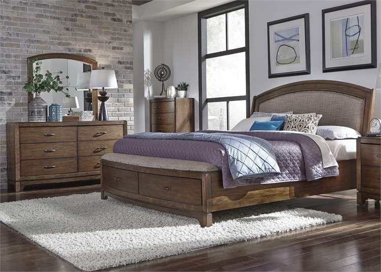 King Storage Bed Dresser Liberty Furniture Bedroom