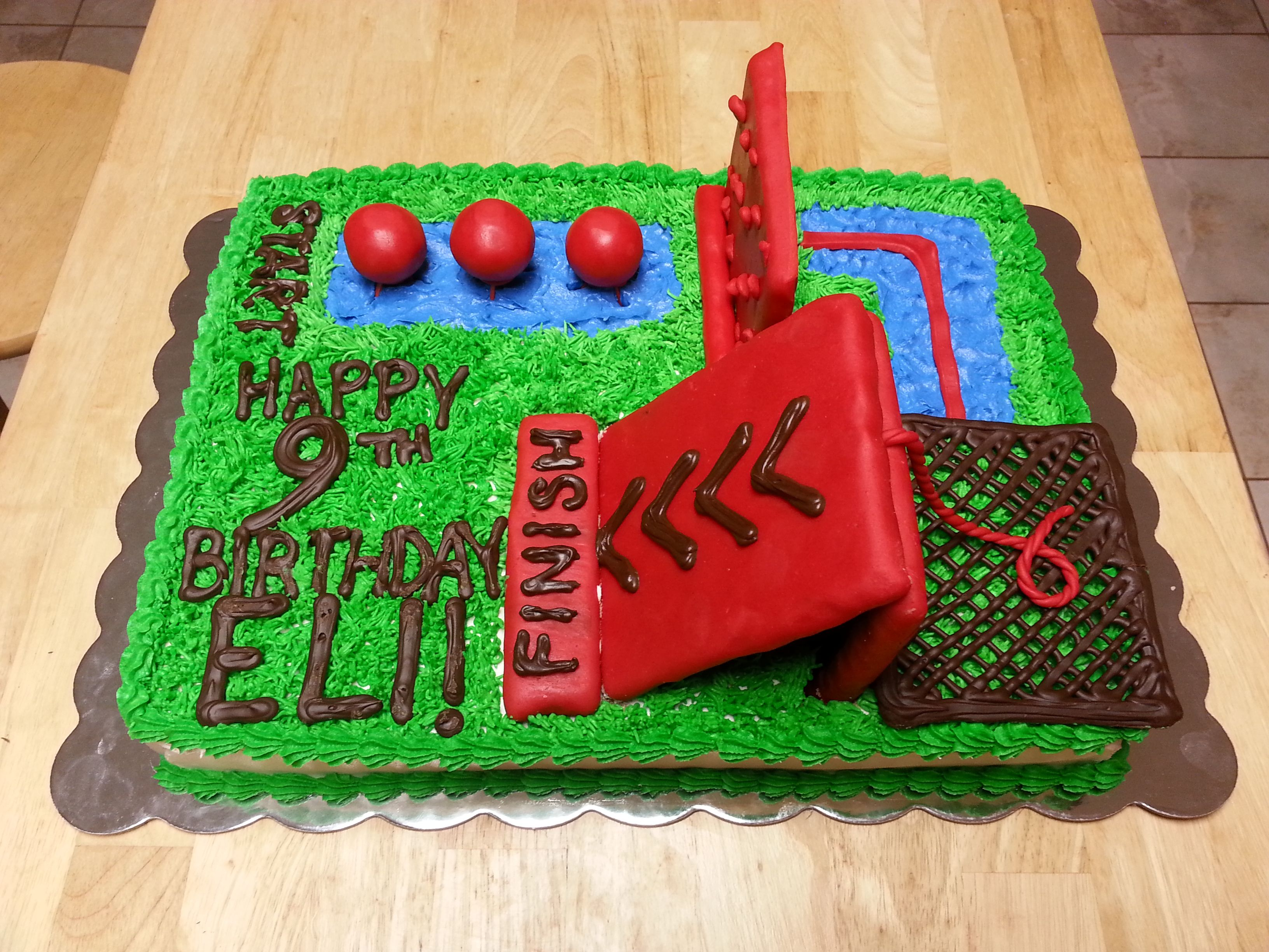 Obstacle Course Birthday Cake Cakes Pinterest Obstacle Course