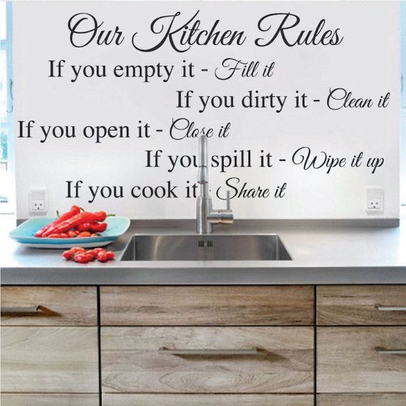 Our Kitchen Rules Wall Quote Home Design Sticker Wall Cooking Food ...