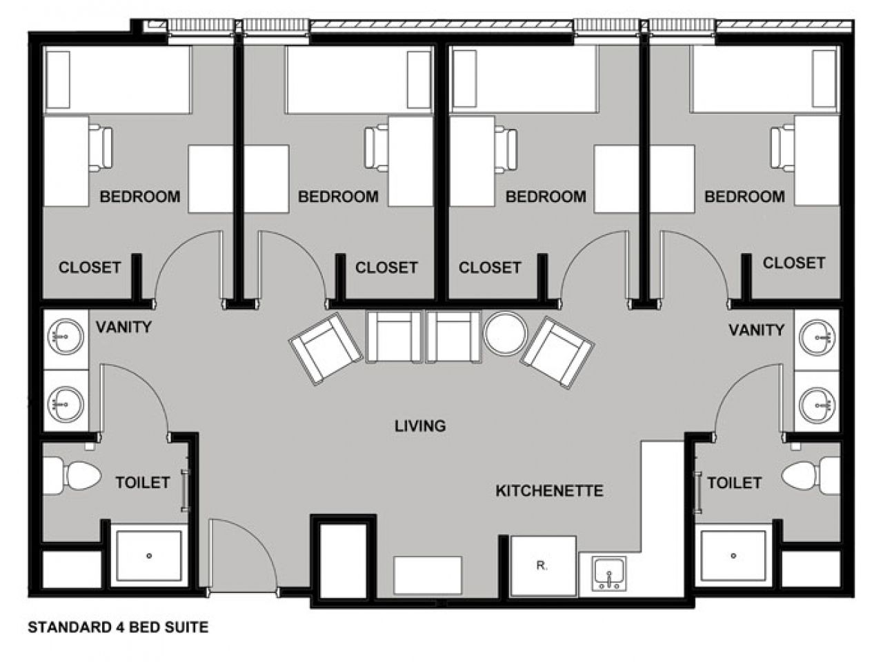 Resultado De Imagen Para Dorm Layout Dorm Room Layouts Dorm Layout Hostels Design