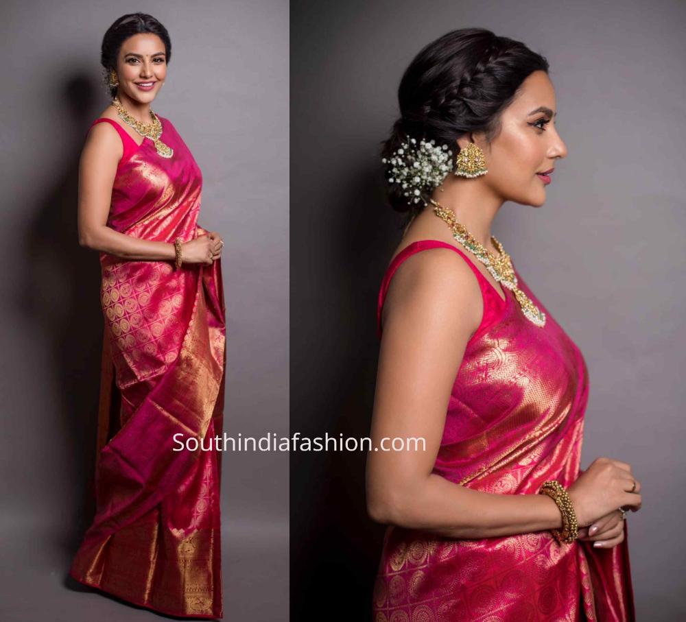 Photo of Priya Anand in a Kanjeevaram saree – South India Fashion