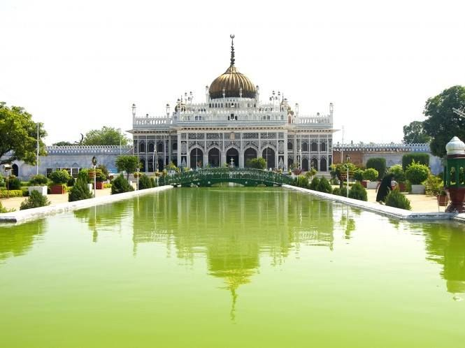 Located In The City Of Nawabs Hussainabad Imambara Or The Chhota Imambara Is One Of The Most Mesmeric Buildings Of India Travel India Travel Guide India Tour