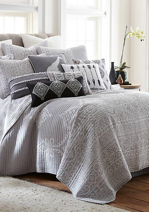 Levtex Isaiah Gray Quilt Set In 2019 Rustic Bedding