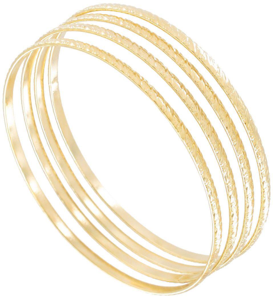 Usa made bangle gold tone swirls thin xl of bracelets bangle