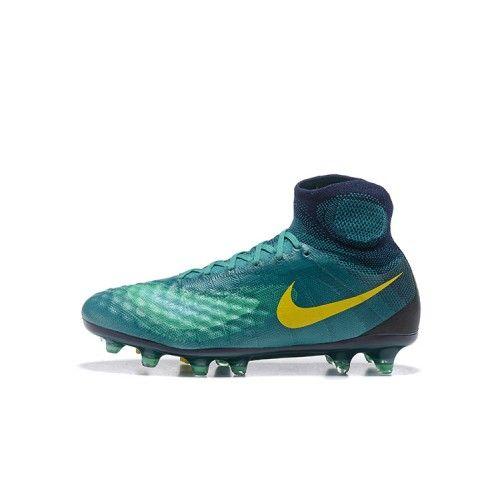 new product 6c36b b26e4 Barato Nike Magista Obra II FG Azul Verde Amarillo