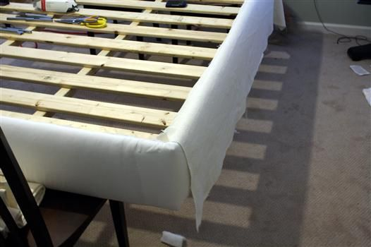 Diy Upholstering Platform Bed Bed Frame And Headboard