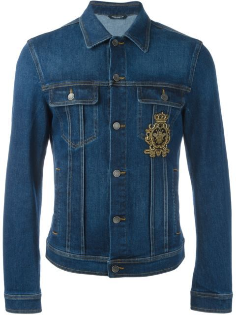c072c3ed4c DOLCE   GABBANA Embroidered Patch Denim Jacket.  dolcegabbana  cloth  jacket