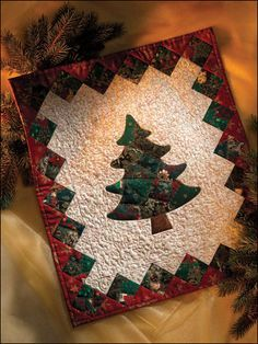 A Christmas Tree Quilt To Enjoy For Years Fabric Christmas Trees Christmas Quilts Christmas Tree Quilt