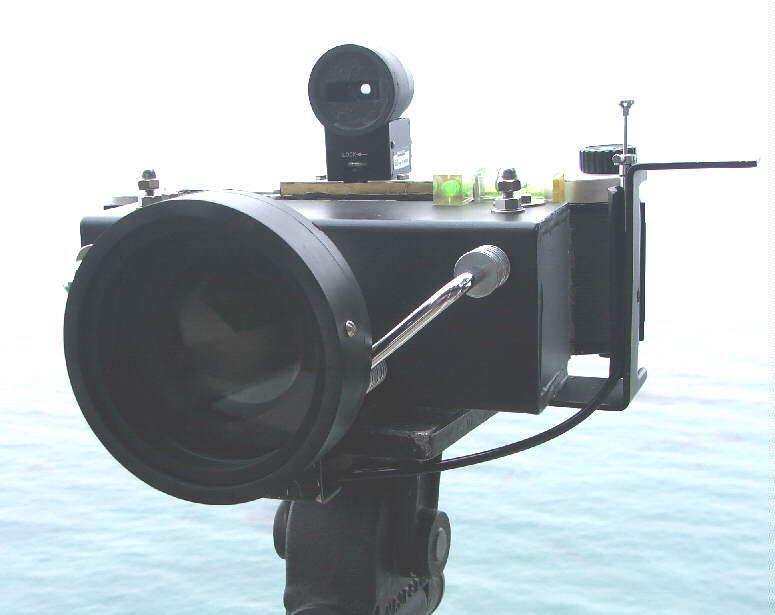 Book to build pano -- mamiya press film holder sawn in half