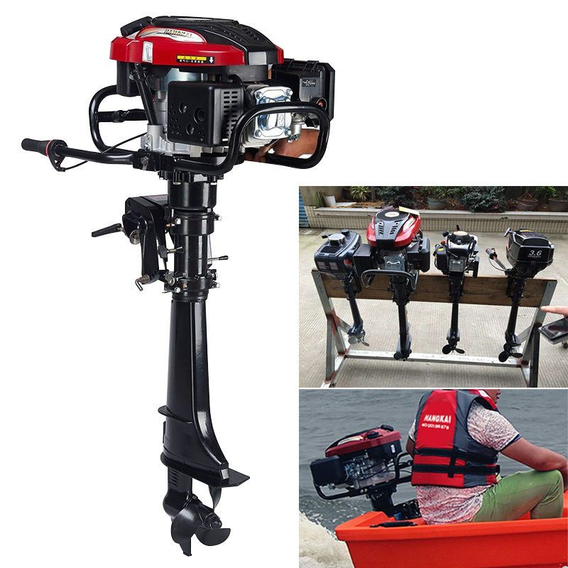 7hp 4stroke Outboard Motor Boat Engine Motor Air Cooling Cdi System 173cc 50cm Outboard Motors Outboard Boat Motors Boat Engine