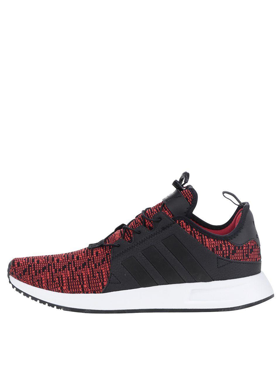 34aa38b8c02 Černo-červené žíhané pánské tenisky adidas Originals X  PLR 2699 Kč ...