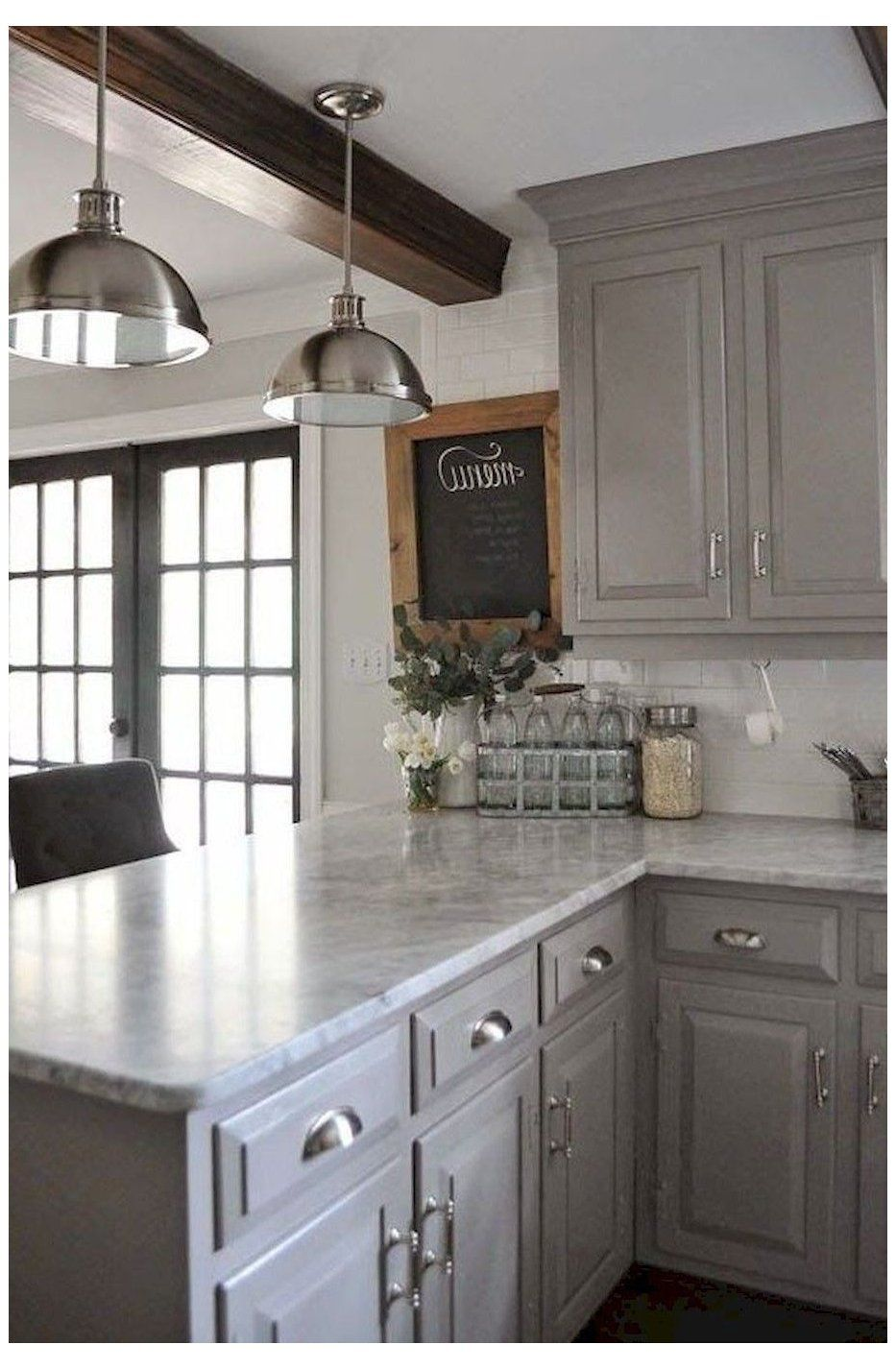 grey kitchen cabinets farmhouse