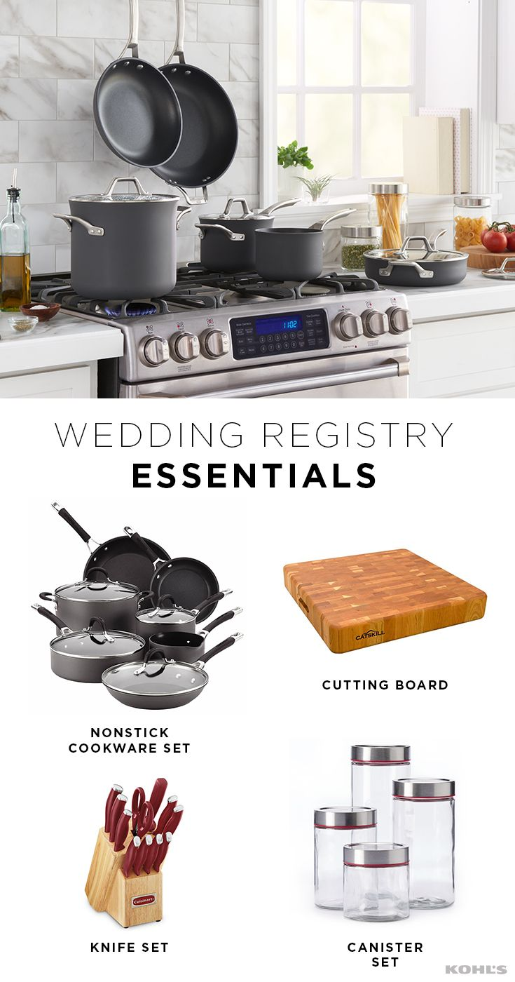 Start Your New Life Together On The Right Foot And With The Right Stuff Whether You Re Combini Wedding Essentials Wedding Registry Essentials Wedding Registry