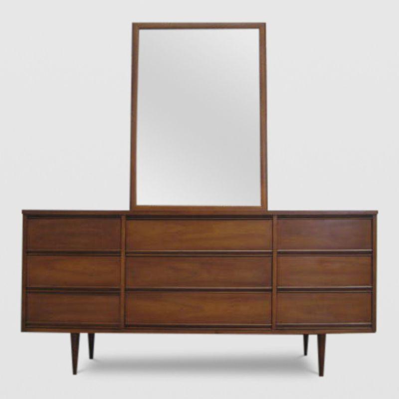 Mid Century Modern Nine Drawer Dresser From Harmony House Furniture