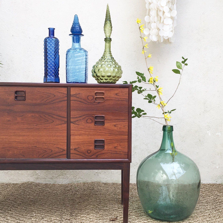 Carafe En Verre Italienne Empoli Midcentury Italian Carafe Etsy Deco Salon Decoration Vintage Living Room Scandinavian