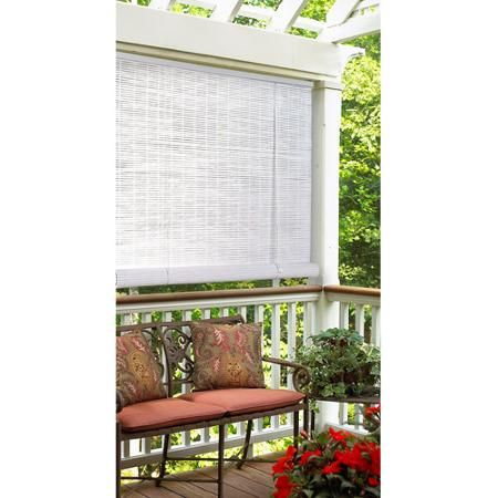 Style Selections Radiance Reed Roll Up Window Blinds White