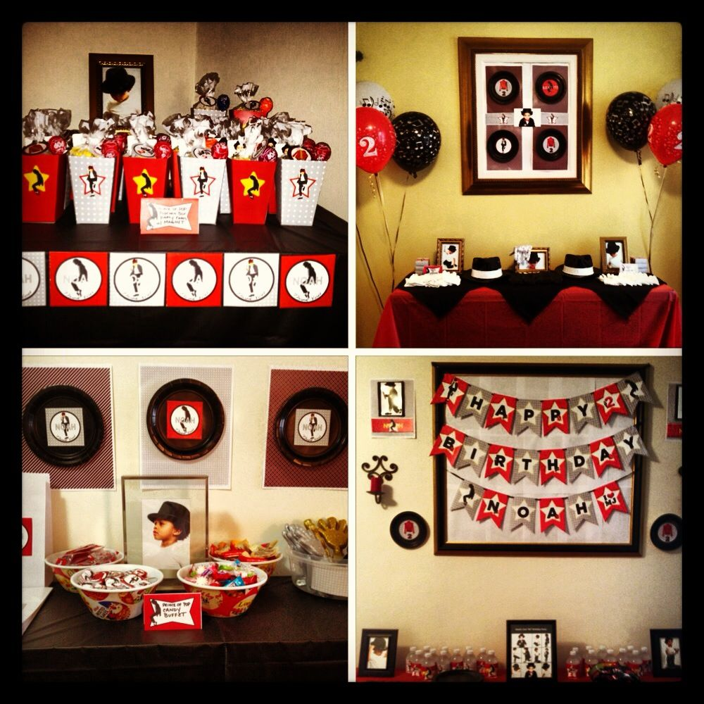 Michael Jackson themed birthday party | Stuff to Buy | Pinterest ...